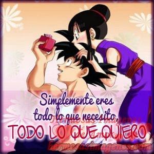 9 Imagenes De Goku Con Frases De Amor Para Dedicar Hermosas Imagenes